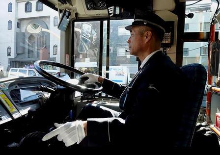 Bus driver, Nara, Japan.