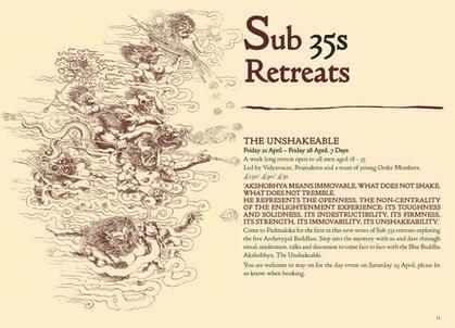 Padmaloka Retreat Centre Programme, 2017, spread.
