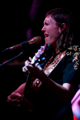 American folk and country singer songwriter Alela Diane performing with her band Wild Divine at The Fleece in Bristol.