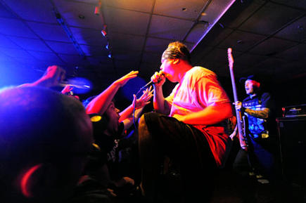 The American Vegan Straight Edge band Earth Crisis is performing in Birmingham, promoting a radical vegan and drug free lifestyle.