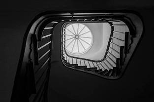 Spiral staircase, Adhisthana, UK. 2013