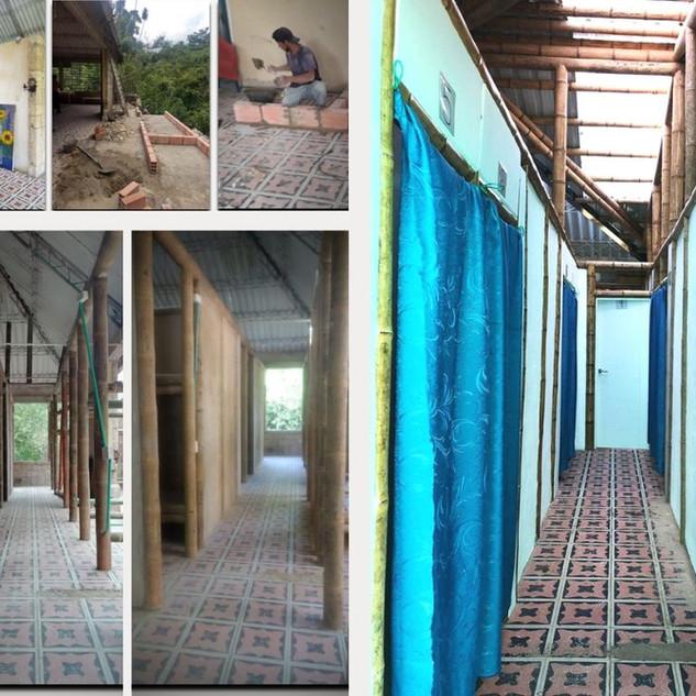 Interior del bloque de habitaciones de mujeres - proceso de adecuación.