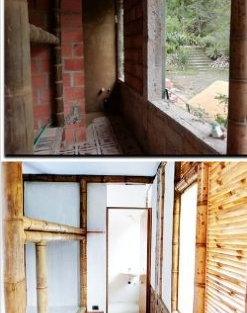 Habitación de mujeres, antes y después en el proceso de adecuación en 2019