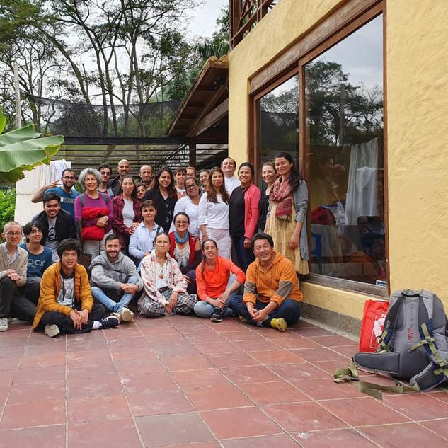 Foto del final del primer curso de 3 días para Estudiantes Antiguos