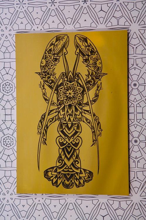 """Mandala Lobster"" Geometric Mirror"