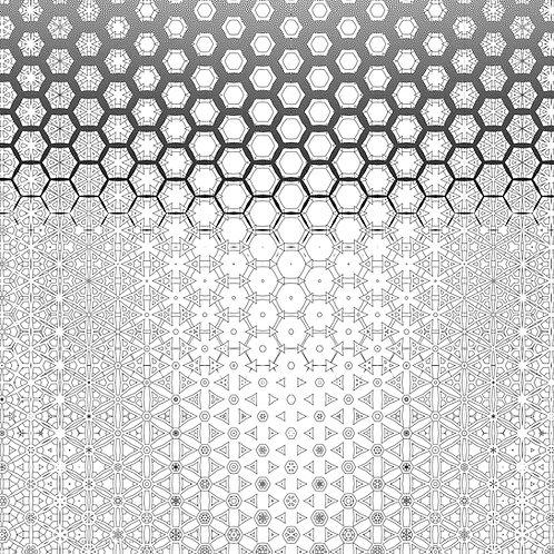 """Honeycomb"" Geometric Wallpaper"