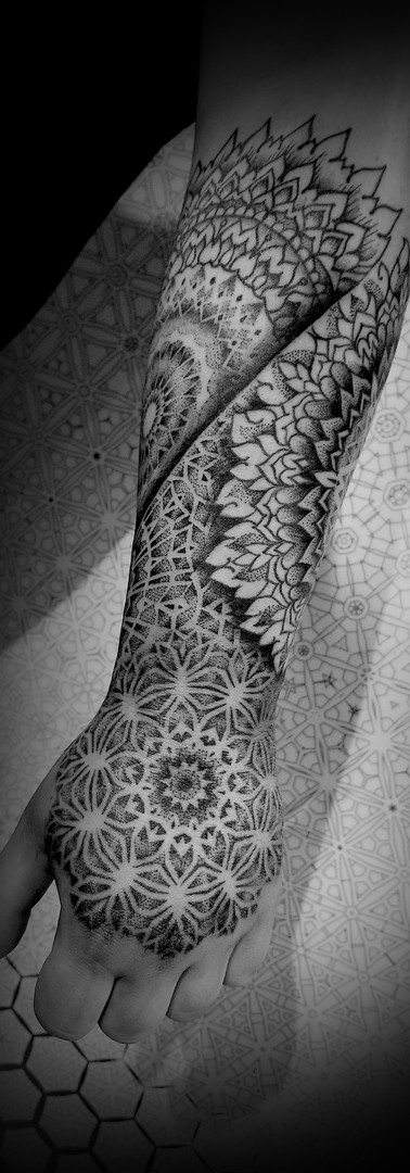 Mandala dotwork geometric sleeve