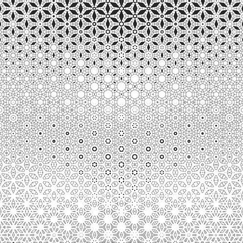 """Time Machine"" Geometric Wallpaper"