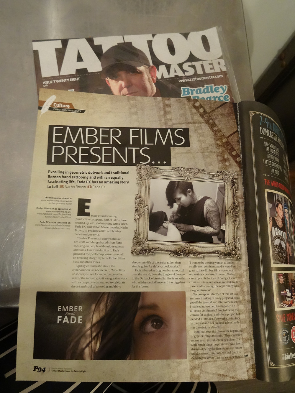Tattoo Master Magazine - FadeFX | Skin FX Article