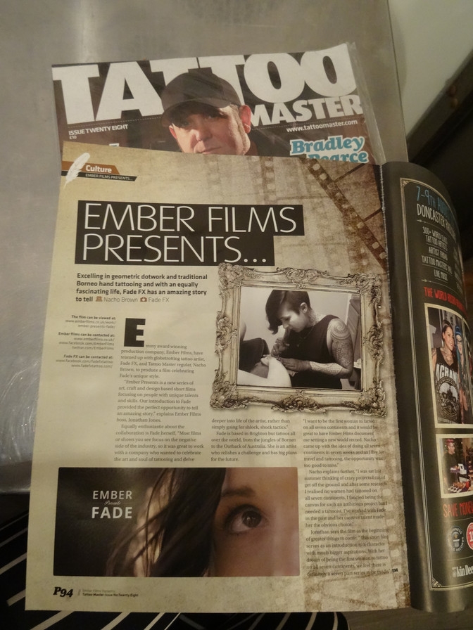 Fade's tattooing published in Magazines