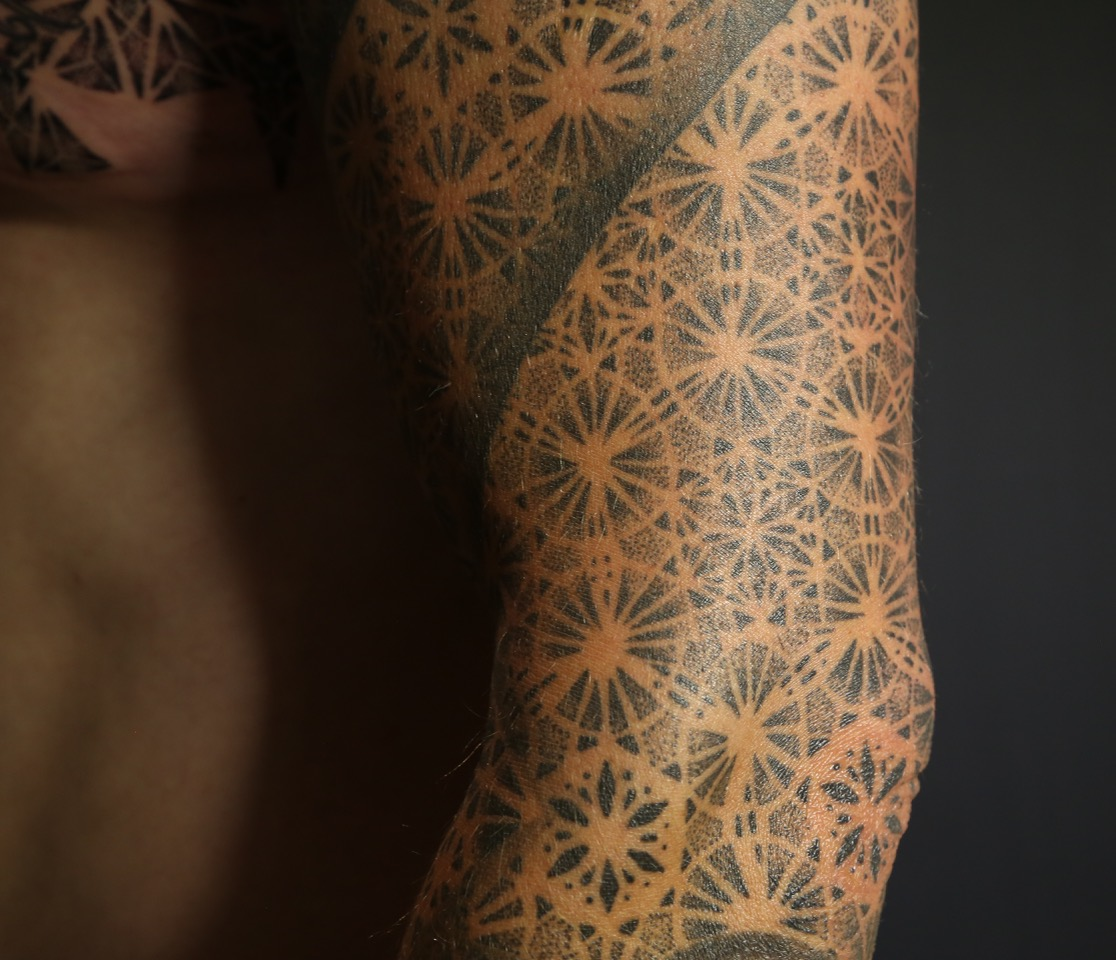Dotwork sleeve Merkabah