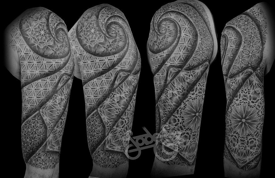 Full Sleeve Skull Tattoos