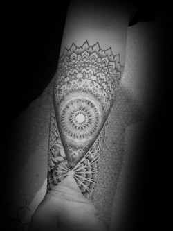 Mandala geometric pattern sleeve