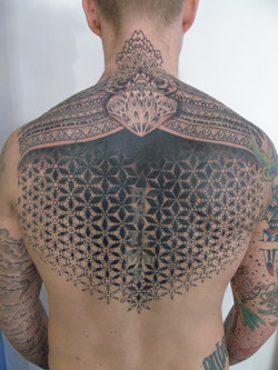 Geometric back piece. Repeat pattern