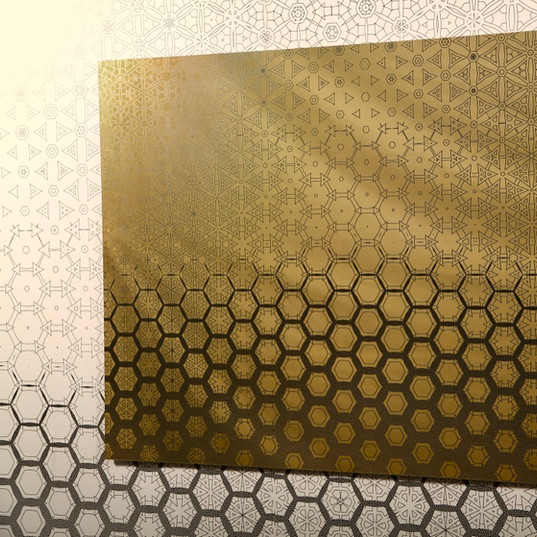 """Honeycomb"" Geometric Mirror"