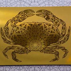 """Mandala Crab"" Geometric Mirror"