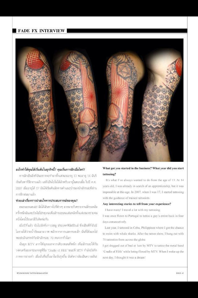 FadeFX | SkinFX - Bnagkok Tattoo Magazine Interview