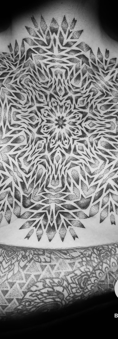 chest and sleeve mandala