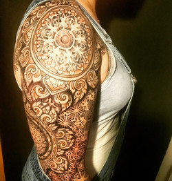 Ornamental mandala sleeve