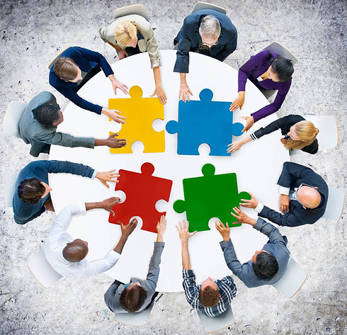 Business People Jigsaw Puzzle Collaborat