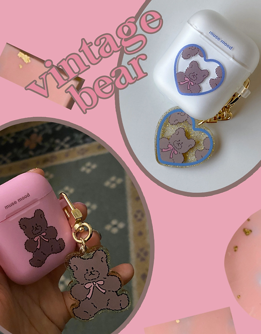 「MUSE MOOD」vintage bear airpods case