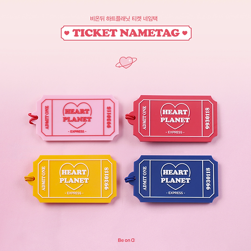 「B ON D」HEART PLANET TICKET NAMETAG
