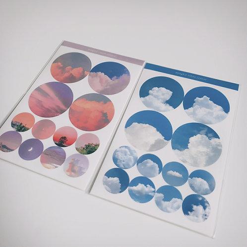 「MINGKIT」透明円形シールセット