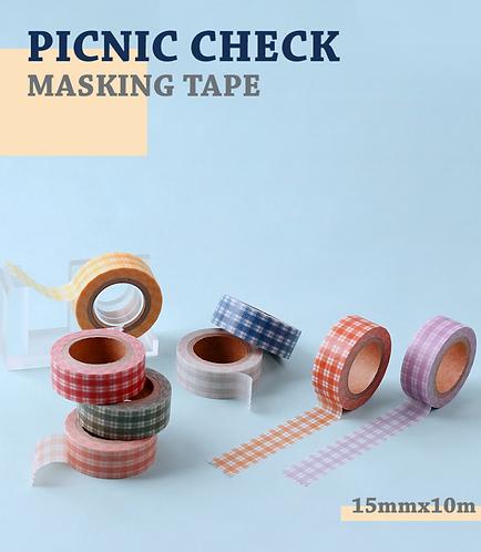 「WANNATHIS」ピクニックチェックマスキングテープ
