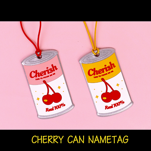 「B ON D」CHERRY CAN NAME TAG