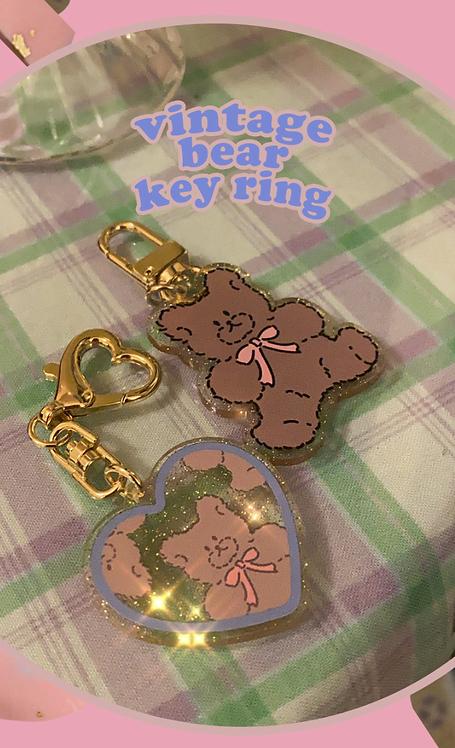 「MUSE MOOD」vintage bear key ring