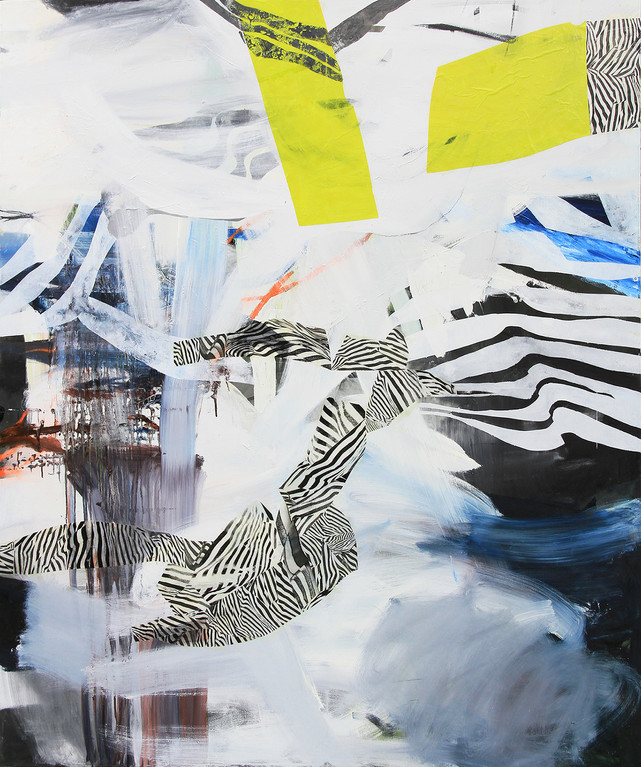 180 x 150 cm, oil and collage on canvas