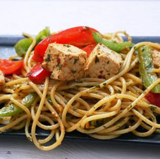 Spicy Tofu Stir Fried Noodles