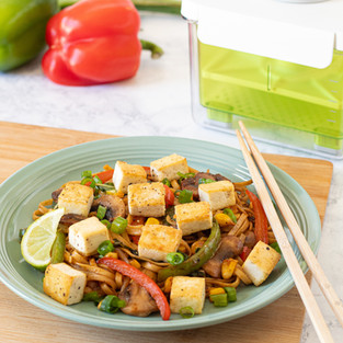 Spicy Tofu Drunken Noodle