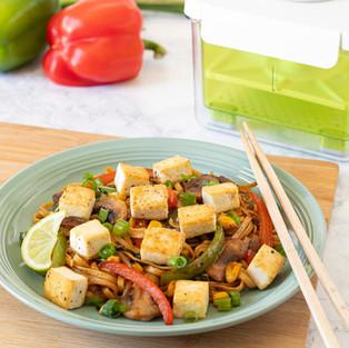 Spicy Tofu Drunken Noodle