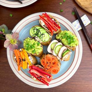 Rainbow Tofu Inari Sushi