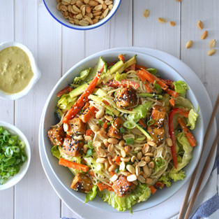 Rice Noodle Salad with Tofu