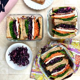Carrot Salad Tofu Sandwich