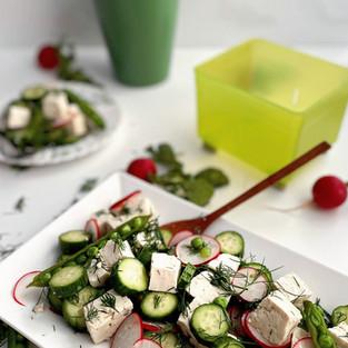 Tofu Cucumber Salad