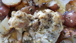 Slow cooker Chicken Thighs with parmesan cheese & potatoes
