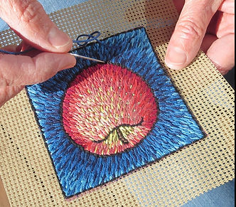 Embroidery, stitches, Laura Gaskin, needlework, painting with stitches