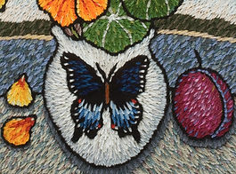 embroidery, Laura Gaskin, butterfly