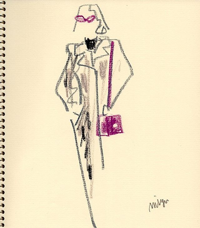 gray & purple  #illustration #fashion #f