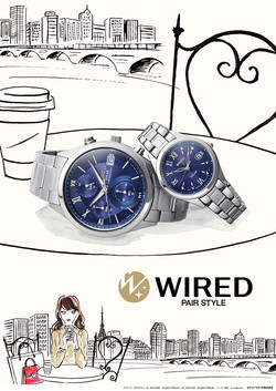 WIRED PAIR STYLE〈Seiko Watch〉
