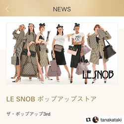 LE SNOB POPUP at GINZA SIX