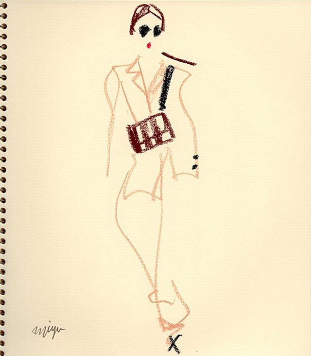beige/black/brown  #illustration #fashio