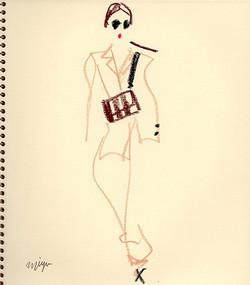 beige/black/brown  #illustration #fashio