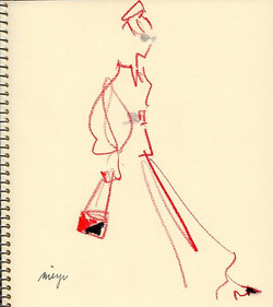 red/black/silver  #illustration #fashion