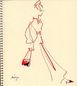 red/black/silver  #illustration #fashion