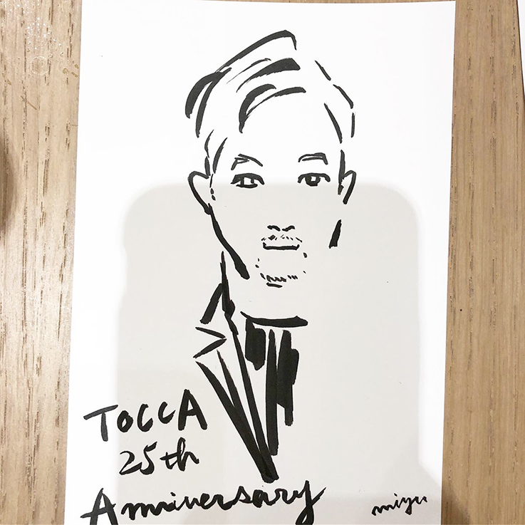 """TOCCA """"25th Anniversary party 5 years in GINZA"""""""