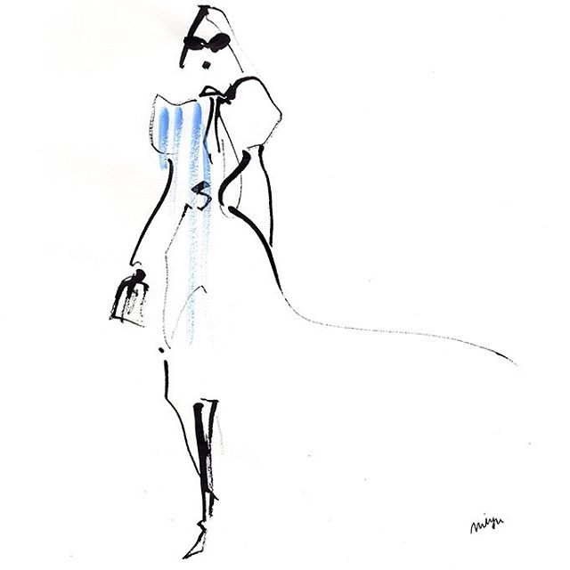 blue  #illustration #fashion #fashionill